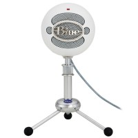 Blue Snowball USB Microphone in Textured White